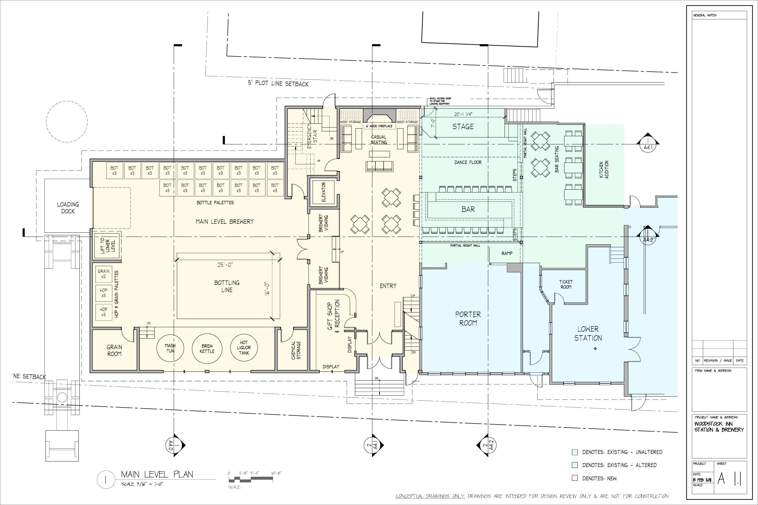 Breweryfirst floor brewing at the new woodstock inn brewery for Brewery floor plan